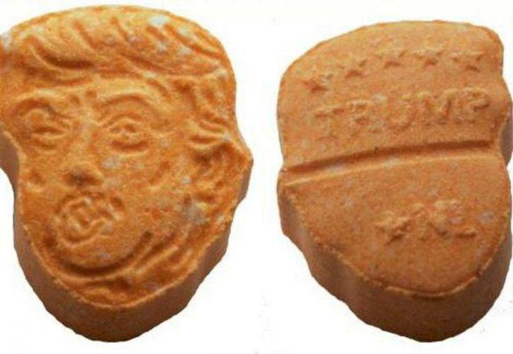 La policía alemana decomisó un cargamento de cinco mil pastillas de anfetaminas con la forma del rostro de Donald Trump. (Osnabrück Police).