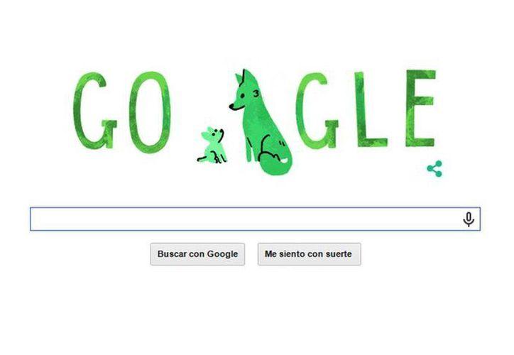 Google publicó este día un doodle conmemorativo del Día del Padre. (captura de pantalla de Google.com)