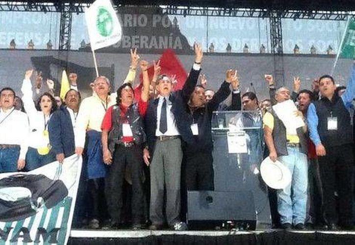 """Cuauhtémoc Cárdenas dijo que """"que otro México es posible si se tiene la capacidad de unirse"""". (Foto: Twitter/@PRDmexico)"""