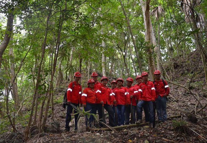 La brigada rural fue reconocida como primer lugar por su trabajo de combate de incendios. (Edgardo Rodríguez/SIPSE)