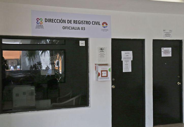 La oficialía número 03  está ubicada a lado de Bomberos en la zona de playas. (Jesús Tijerina/SIPSE)