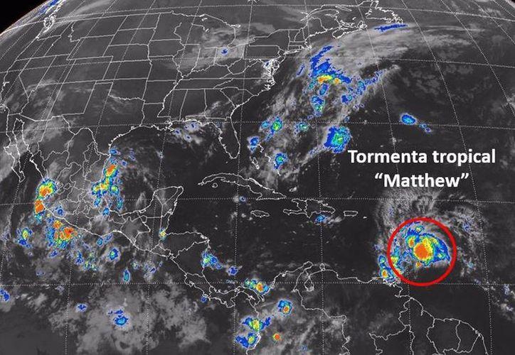 El centro de Matthew se moverá a través de las islas de Barlovento en las próximas horas y sobre el este del Caribe hasta el viernes. (smn.conagua.gob.mx/es)