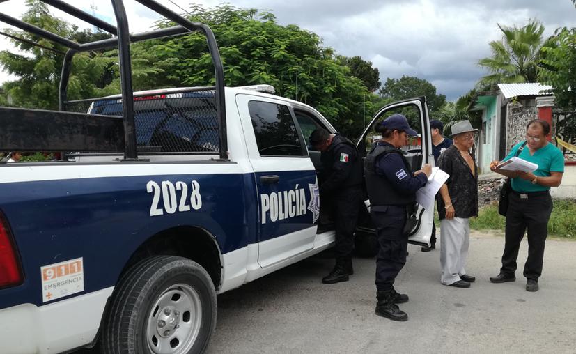 Los agentes de la policía municipal de Felipe Carrillo Puerto buscan que las autoridades recapaciten. (Jesús Caamal/SIPSE)