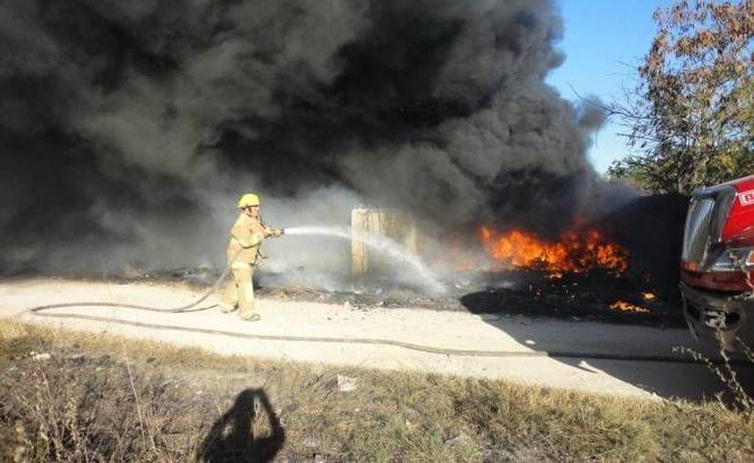 Ambas deflagraciones son combatidas por personal de la Conafor. (Redacción/SIPSE)
