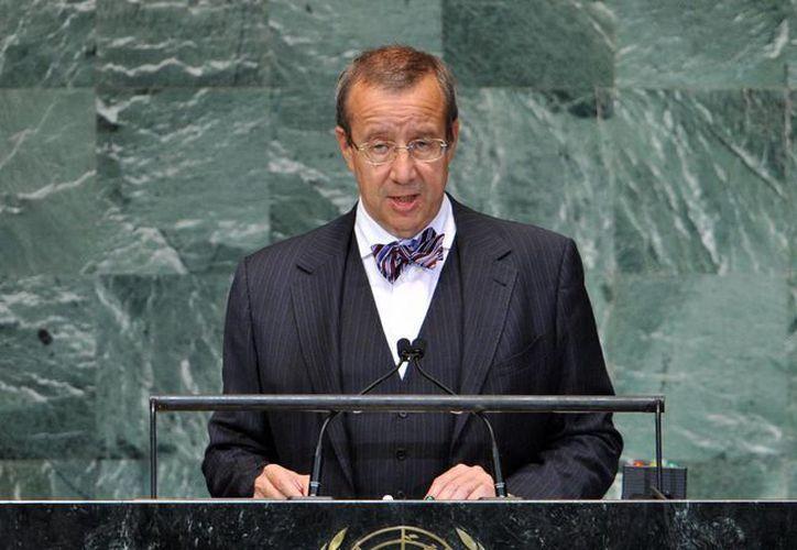 El presidente de Estonia, Toomas Hendrik Ilves, en la última Asamblea General de la ONU. (EFE/archivo)