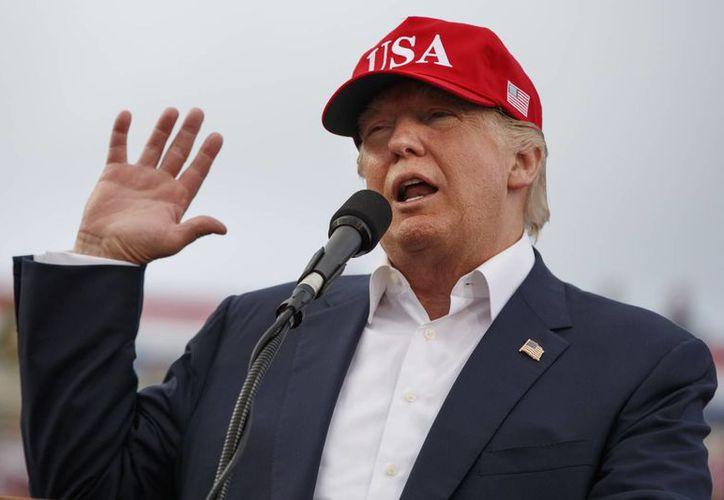 Una de las políticas Donald Trump contra México, es la cancelación del Tratado de Libre Comecio de América del Norte. (Evan Vucci/AP)