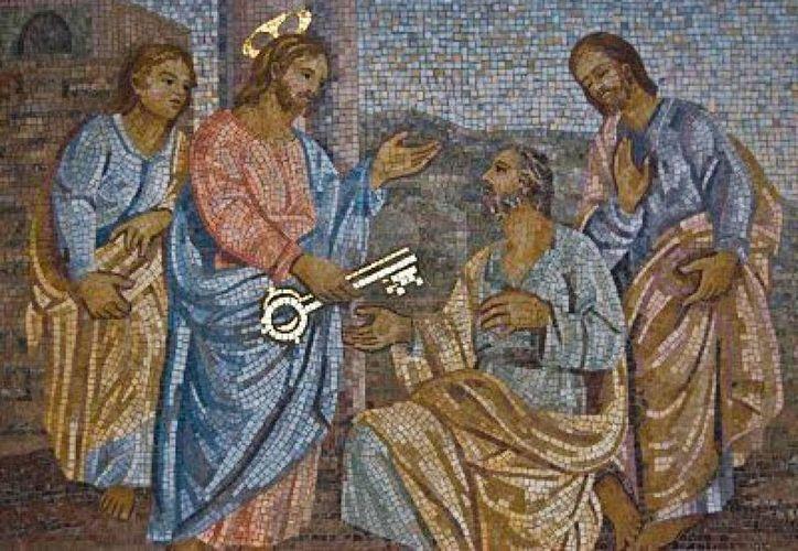 Representación de la entrega que Jesús hace a Pedro, de las llaves de la Iglesia. (religionenlibertad.com)