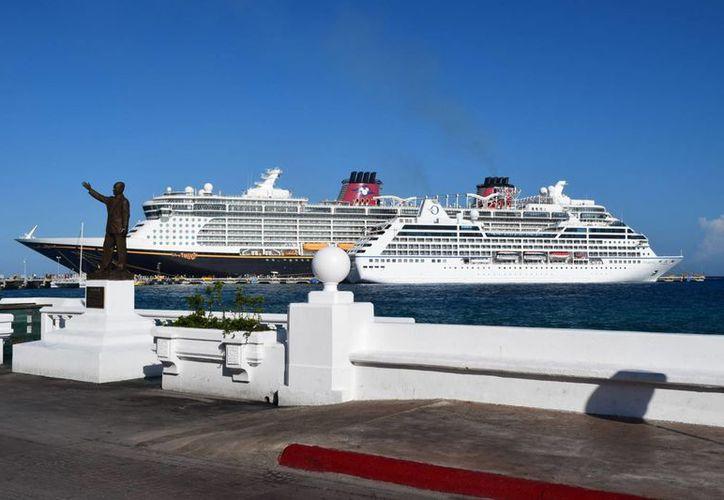 Oficialmente se abre la temporada alta de cruceros. (Gustavo Villegas/ SIPSE)