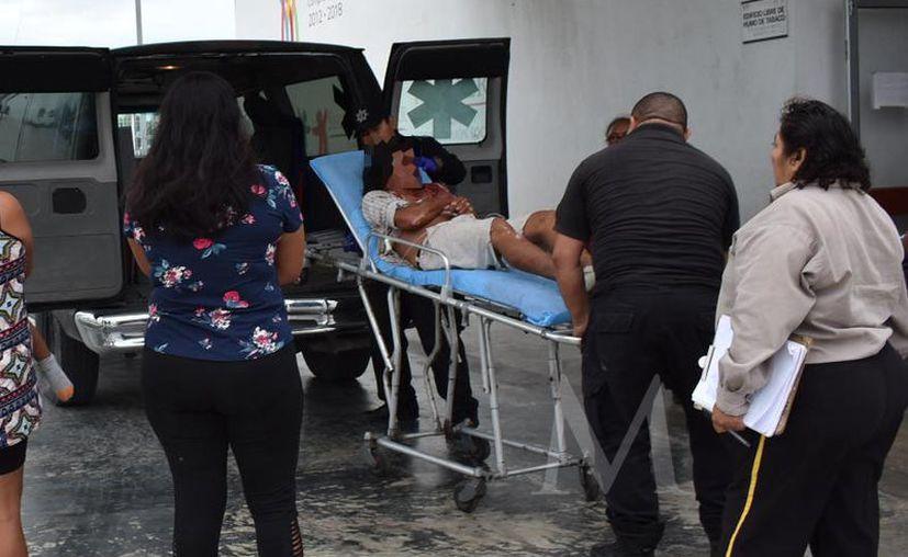 """El agresor, conocido como """"El Mickey"""", se escabulló, mientras que el lesionado tuvo que ser llevado a Mérida."""