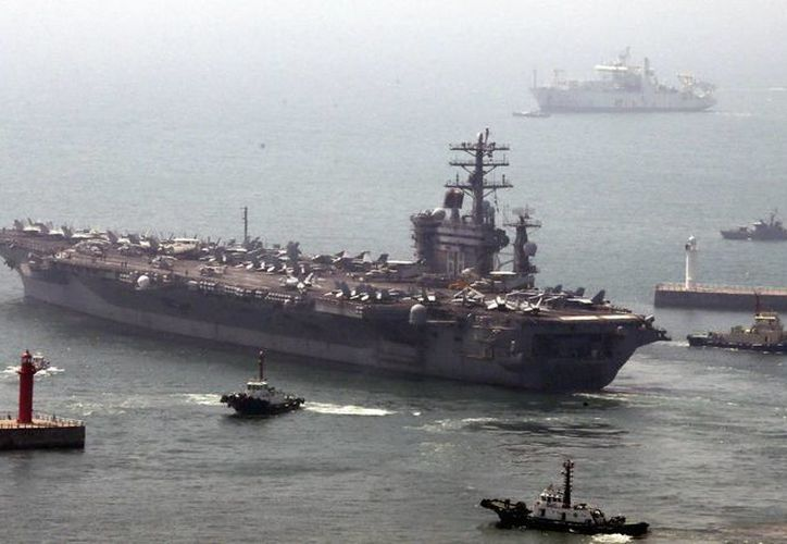 Fotografía del USS Nimitz correspondiente al 13 de mayo de este año. (EFE)