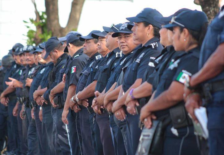 El 83% de los cadetes de la policía reprobaron sus exámenes de confianza. (Gustavo Villegas/SIPSE)