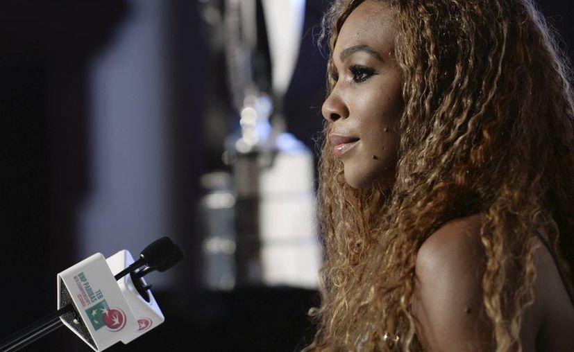 Serena durante una conferencia de prensa este lunes, un día antes del inicio del torneo en Estambul. (Agencias)