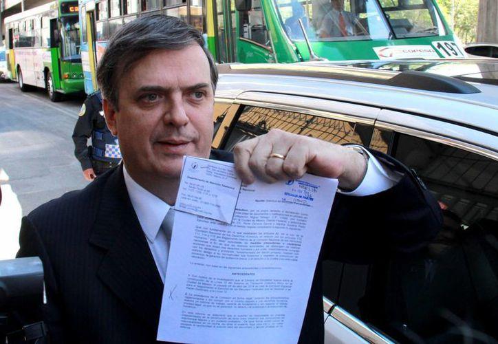 Ebrard asegura que el TEPJF retiró su registro como candidato de manera arbitraria. (Archivo/Notimex)