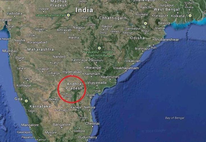 Telengana surgió gracias a que Andhra Pradesh se dividió en dos partes. (Google Maps)