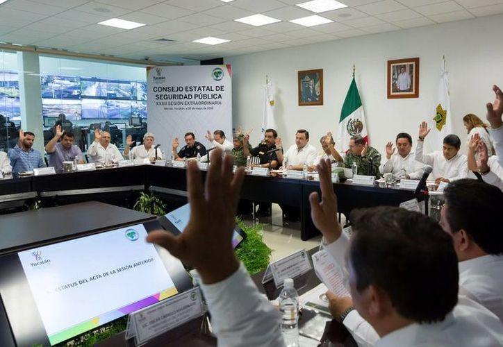 El Consejo Estatal de Seguridad está integrado por  funcionarios y representantes de la sociedad. (Milenio Novedades)