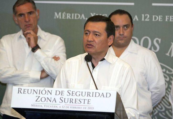 El secretario de Gobernación, Miguel Ángel Osorio Chong, encabezó la Reunión Regional de Seguridad de la Zona Sureste. (Notimex)