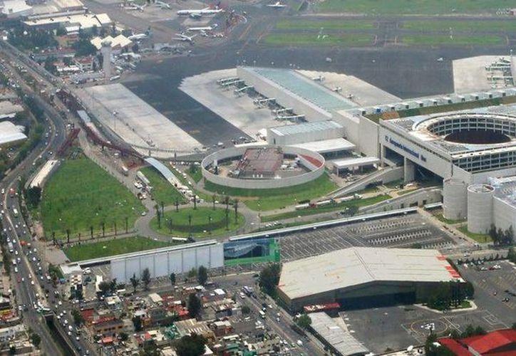 Vista aérea del AICM. (Archivo)