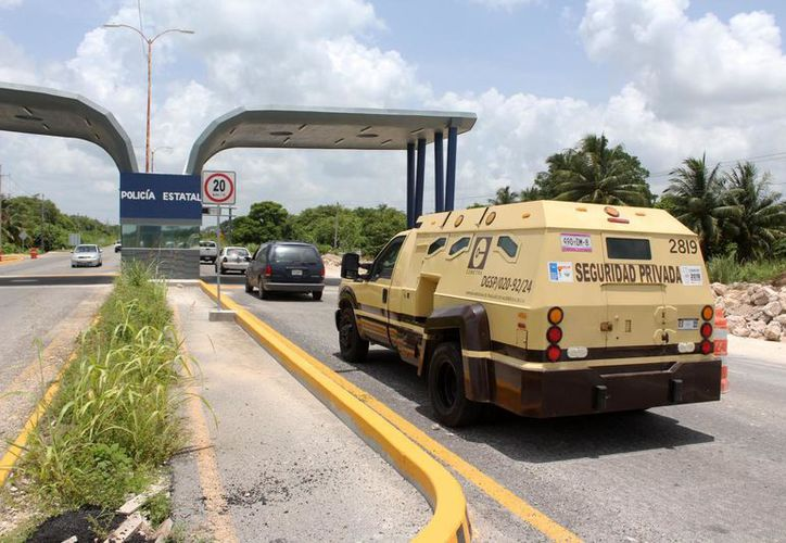 El filtro policial en Chetumal contará con nueva tecnología. (Joel Zamora/SIPSE)