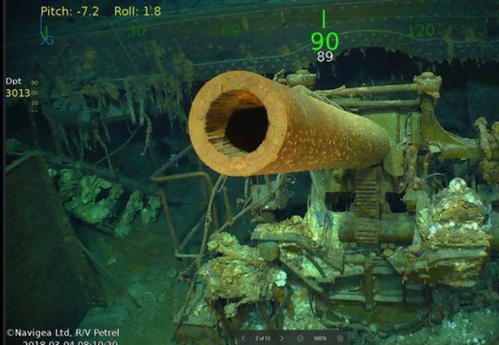 El USS Lexington es considerado un cementerio bélico. (Foto cortesía de Paul G. Allen)