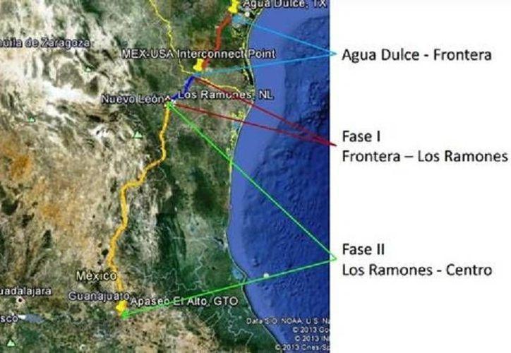 En 2015 entrará en operación el gasoducto Los Ramones. (Imagen tomada de Pemex gas)