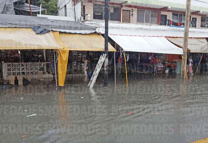 Al menos siete vehículos fueron auxiliados con grúas y patrullas. (Foto: Jesús Tijerina/SIPSE).