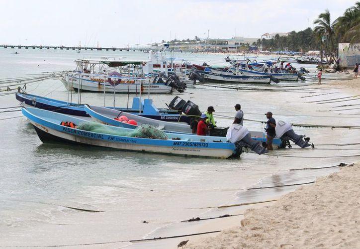 Las embarcaciones cuentan con motores de cuatro tiempos. (Adrián Barreto/SIPSE)