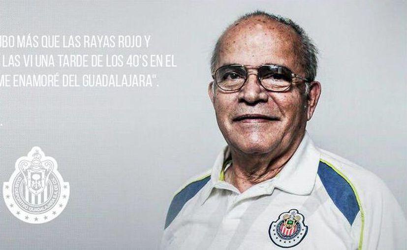 Chivas se despidió de una gran leyenda de la institución. Se trata de Pascual 'Pato' Gómez, hermano del ex portero Jaime 'Tubo' Gómez. (@Chivas)