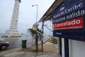 Los efectos del frente frío en Cozumel
