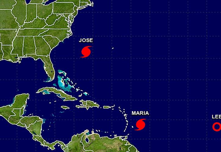 Por el huracán María emitieron advertencia para las islas de Guadalupe, Dominica, San Cristóbal, Nevis y Monserrat. (Noaa/Especial)