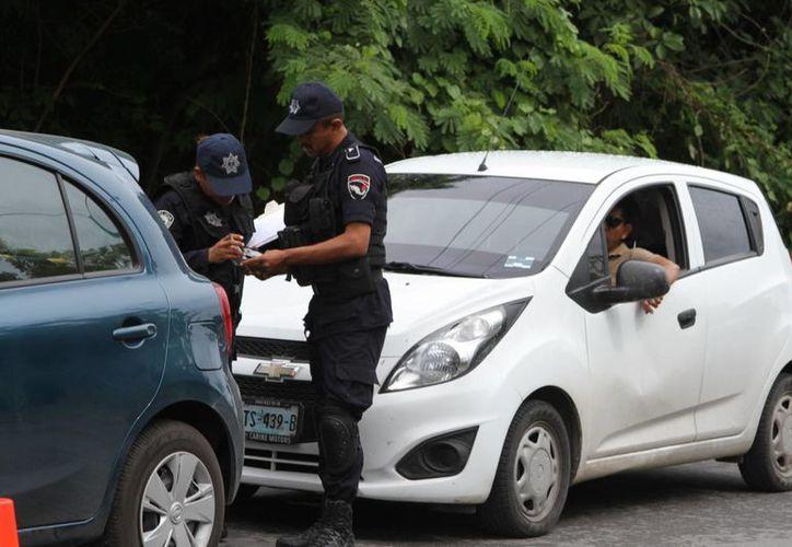 ''El ánimo de los policías es muy alto y hay buen desempeño''. (Eddy Bonilla/ SIPSE)