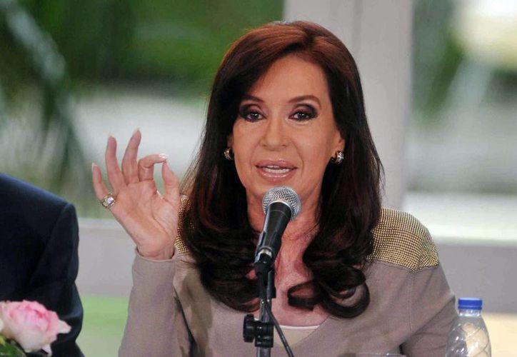 Cristina Fernández aseguró que las islas Malvinas son 'la mayor base militar nuclear de la OTAN'. (EFE)