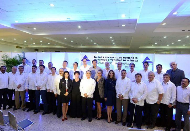 La Cámara Nacional de Comercio y Servicios de Mérida realizó su asamblea general ordinaria. (Milenio Novedades)