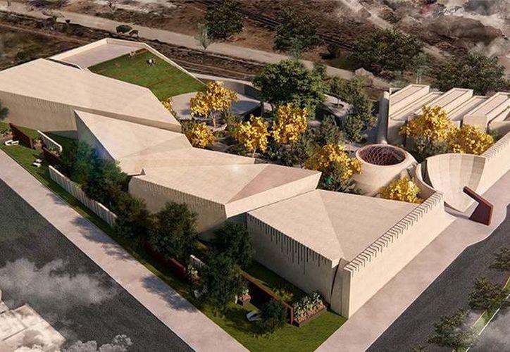 Se pretende que el Museo de la Luz quede terminado como se aprecia en la foto (Foto Facebook de Sedeculta)