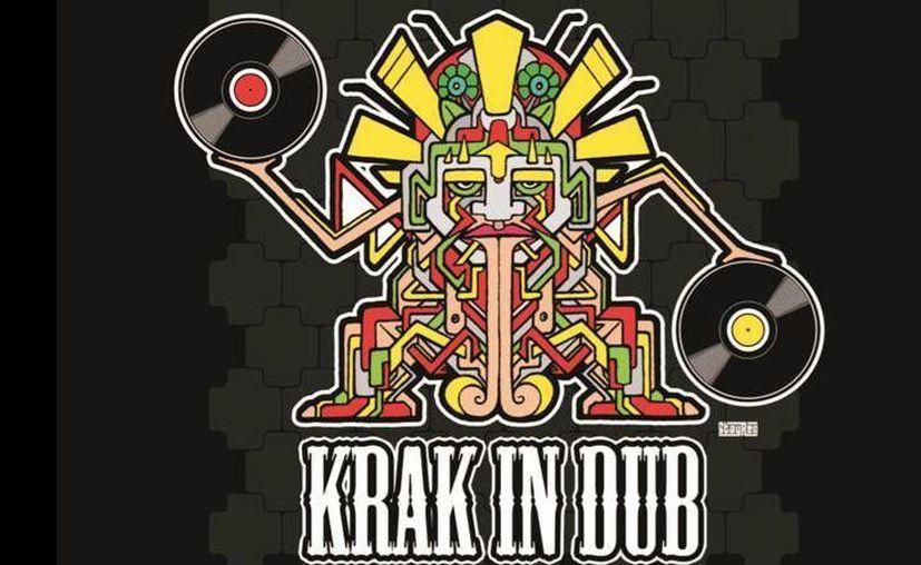 "Logotipo del  Dj ""Aka Krak in dub"". (reggaemexicano.com)"