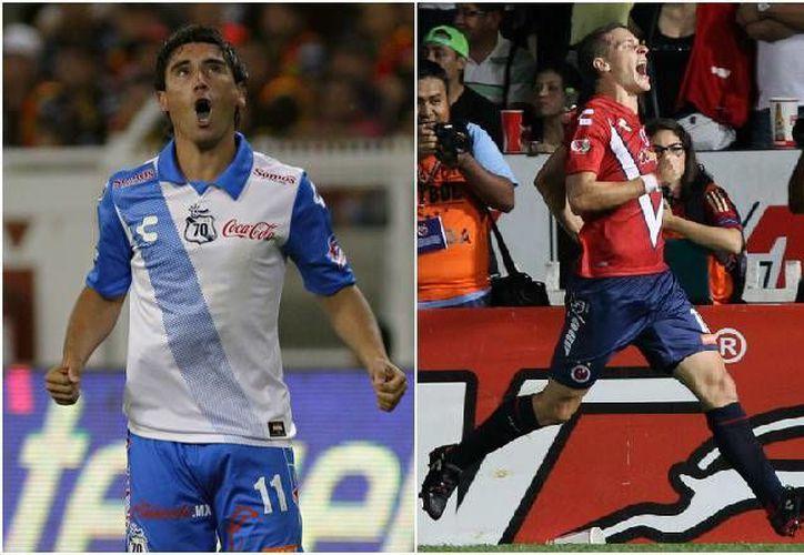 Los argentinos Matías Alustiza (i)(Puebla) y Julio Furch (Veracruz) son dos de los goleadores actuales del Futbol Mexicano aunque solo lleven 9 tantos. (futboltotal.com.mx)