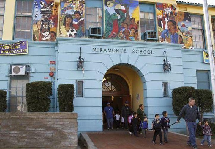 La primaria Miramonte, en Los Ángeles, California. (Archivo/Agencias)