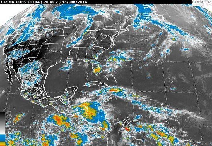 Condiciones meteorológicas que prevalecen este domingo 15 de junio en México. (Conagua)