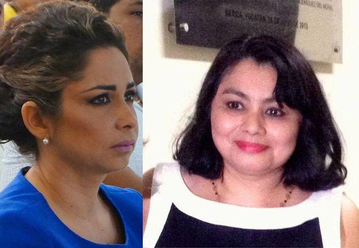 En la imagen las nuevas consejeras de la Judicatura del Poder Judicial del Estado Silvia Carolina Estrada Gamboa y Sara Luisa Castro Almeida, quienes inicianron su gestión desde el pasado 1 de julio. (Milenio Novedades)