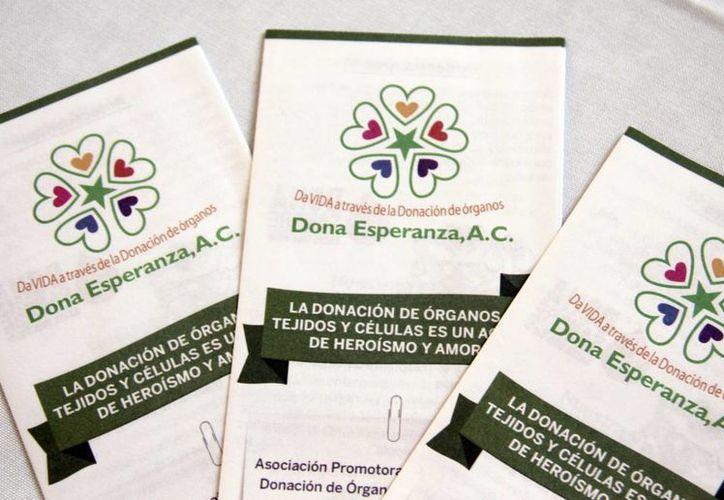 Dona Esperanza realiza gran labor en pro de la donación de órganos. (Milenio Novedades)