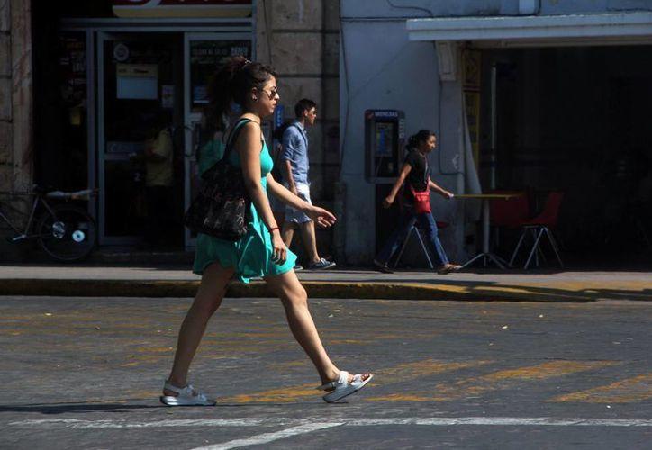 Este lunes los termómetros marcaron una temperatura máxima de 37.5 grados en Mérida. Se espera que haya más calor. (SIPSE)