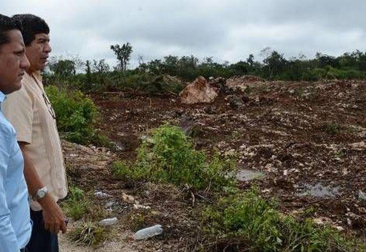 Ejidatarios cedieron un espacio de dos hectáreas para la construcción del nuevo camposanto. (Cortesía/SIPSE)
