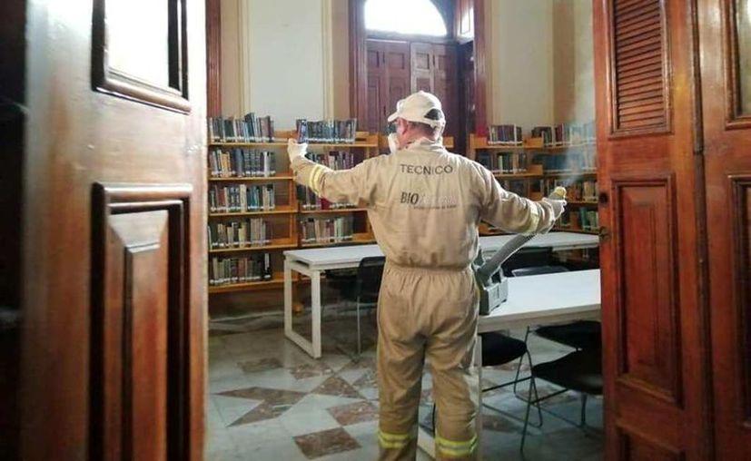 Museos, teatros y bibliotecas están cerrados para evitar la propagación del Covid-19. (Novedades Yucatán)
