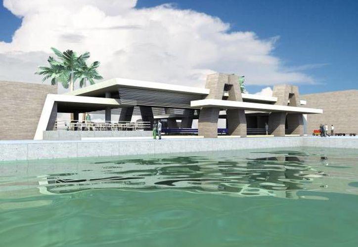 Debido a su diseño arquitectónico, la nueva Terminal Marítima de Isla Mujeres impacta de manera positiva en el cuidado del medio ambiente. (Contexto/Internet)