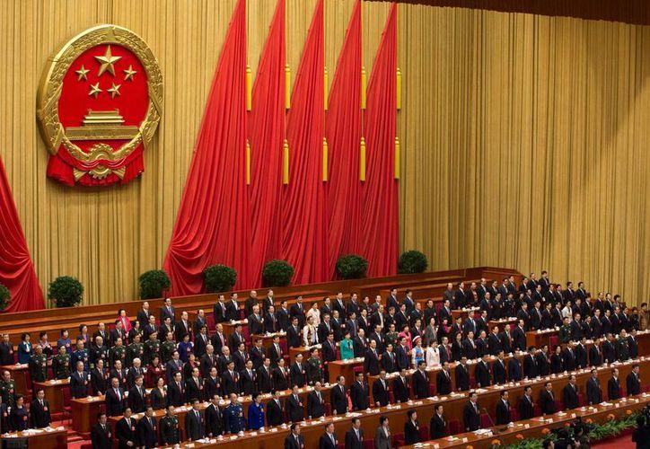 Ceremonia del cierre del la Asamblea Anual del Partido Comunista China. (Agencias)