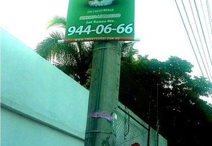 El Ayuntamiento de Mérida multó con 200 mil pesos a diversas empresas por violar el Reglamento de Imagen Publicitaria. (Cortesía)