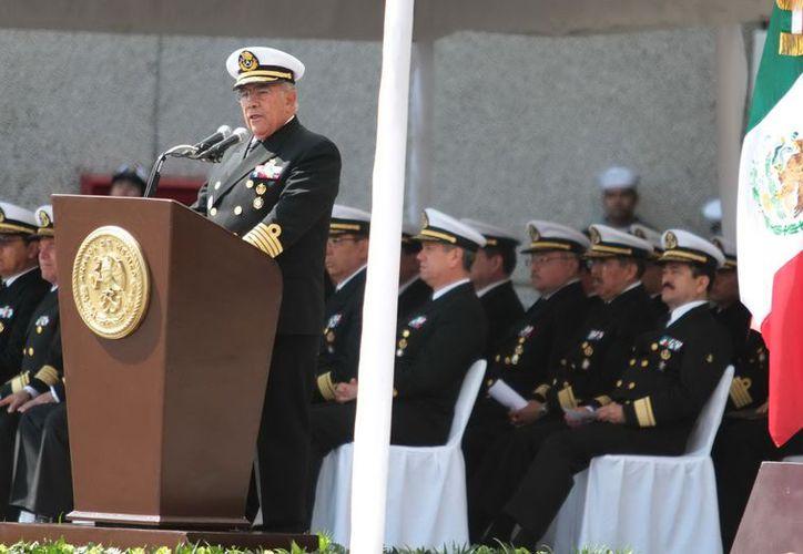 Saynez Mendoza presidió la graduación de la XXXII Generación de alumnos colegiados de las maestrías de Seguridad Nacional. (Notimex)