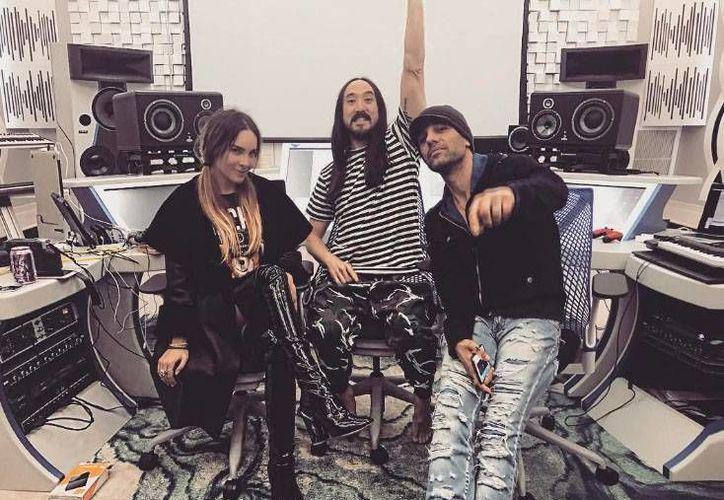 A través de las redes sociales, Belinda y Steve Aoki dieron a conocer que se encuentran trabajando en un nuevo proyecto musical.(Foto tomada de Instagram/Belinda)