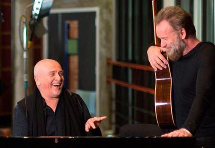 Peter Gabriel y Sting realizarán una gira musical juntos; el tour se denomina en inglés Rock Paper Scissors. (AP)