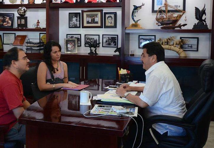 Plantearon diversos temas, situaciones y solicitudes al presidente municipal. (Cortesía/SIPSE)