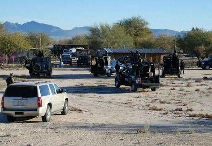 El centro de operaciones del grupo criminal se encontraba en el municipio de Plutarco Elías Calles, Sonora. (Milenio)
